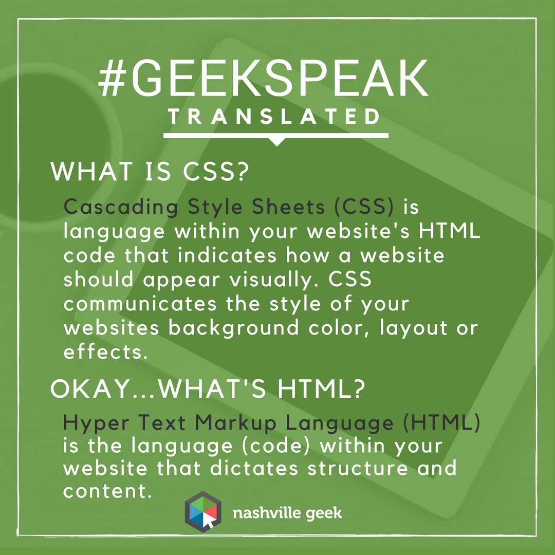 What is CSS and HTML?